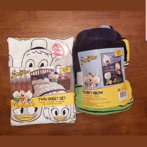NEW   DuckTales Twin Sheet Set & Plush Throw NWT